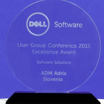 Podjetje ADM Adria prejelo nagrado za odličnost na svetovni DELL SW User konferenci