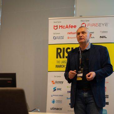 O aktivnem monitoringu podatkovnih baz na konferenci RISK 2019